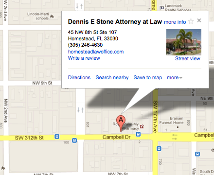 Map Homestead Florida.Dennis E Stone Attorney At Law Homestead Fl And Miami Dade